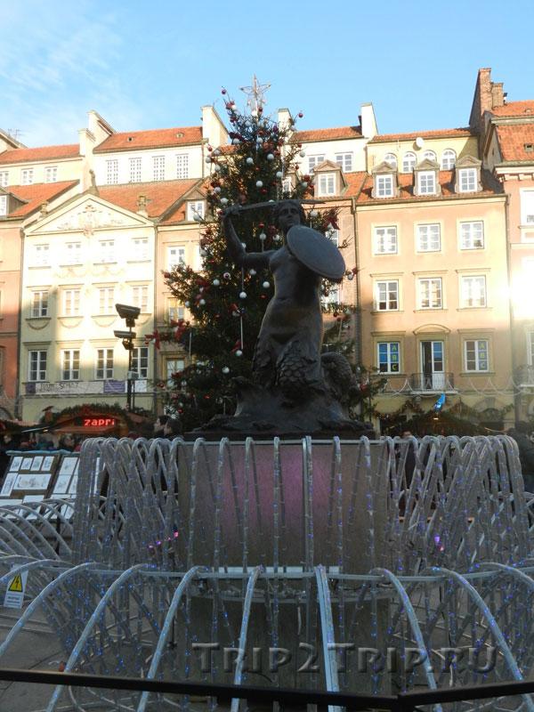 Статуя Русалки (Сирены) на Старом рынке, Варшава