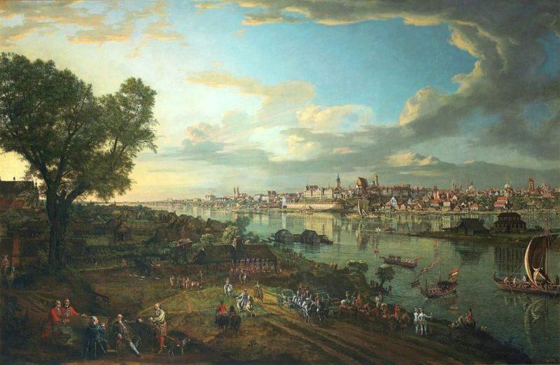 Бернардо Беллотто - Вид Варшавы от Праги. 1770.