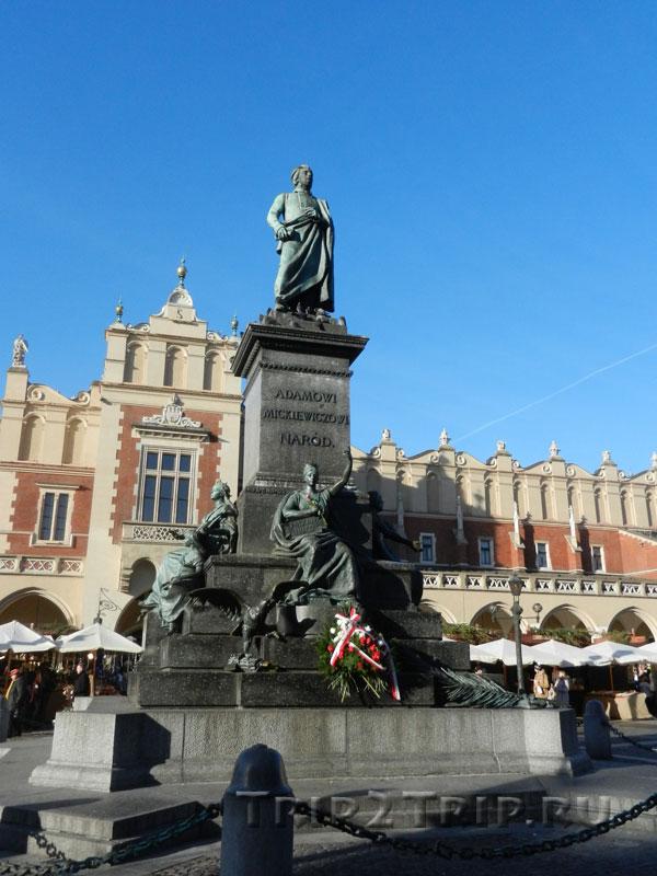 Адам Мицкевич, Рыночная площадь, Краков