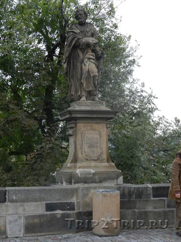 Иуда Фаддей, Карлов Мост, Прага. Десятая фигура справа.
