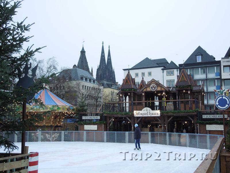 Каток на рождественской ярмарке Heimat der Heinzel, Кёльн