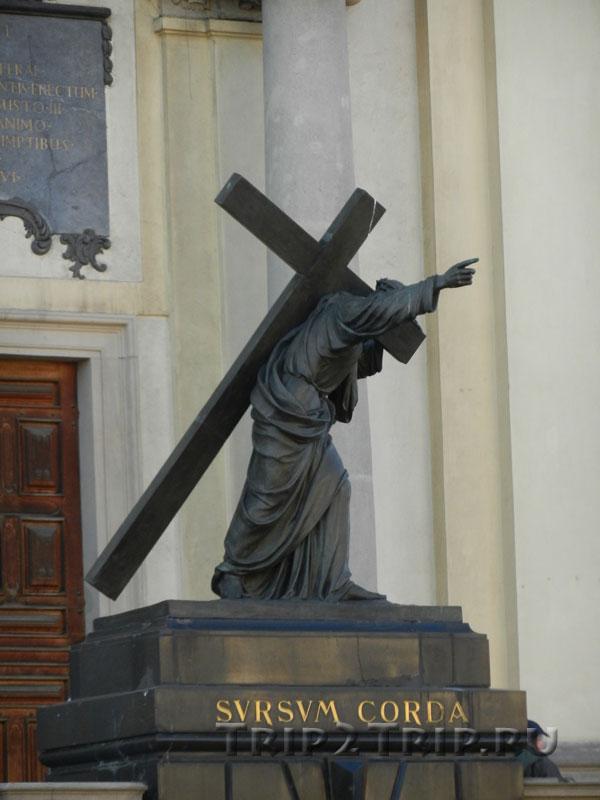 Христос с крестом, Костёл Святого Креста, Краковское Предместье, Варшава