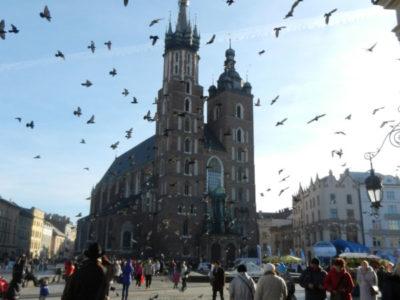 Вид на Мариацкий Костёл с Главного Рынка, Краков