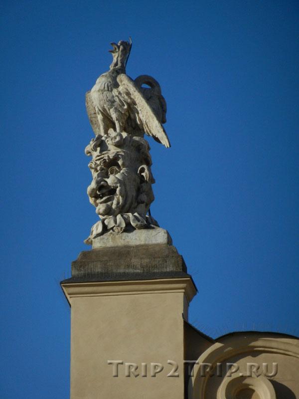 Петушок на маскароне, элемент декора Сукенниц (Суконные ряды), Краков