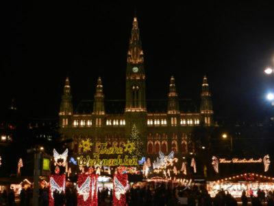 Ратуша во время Рождественской ярмарки, Вена