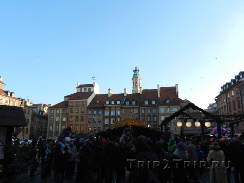 Сторона Игнация Закшевского, Рыночная площадь в Рождество, Старе Място, Варшава