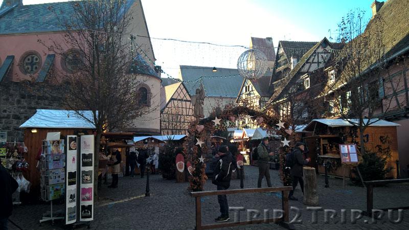 Рыночная площадь, Эгисхайм, Франция