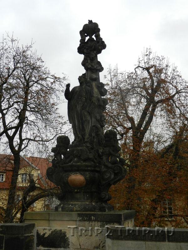 Св. Каэтан, Карлов Мост, Прага. Двенадцатая фигура справа.