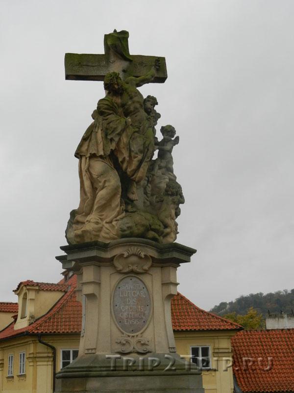Видение Святой Луитгарды, Карлов Мост, Прага. Двенадцатая скульптура слева.