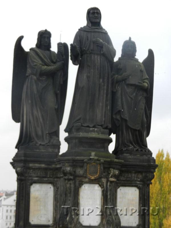 Св. Франциск Серафинский, Карлов Мост, Прага. Девятая фигура слева.