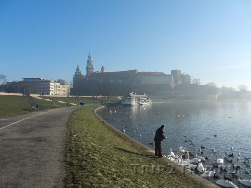 Вид на Вавель и Вислу, Краков