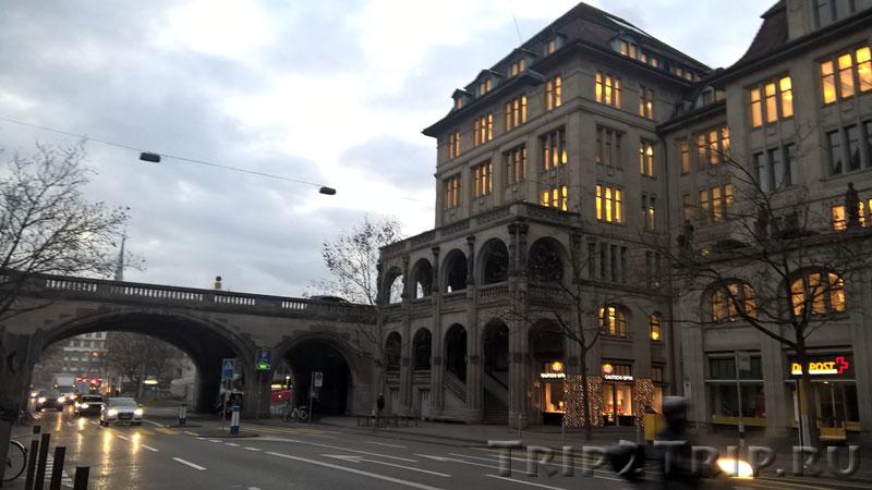 Уранияштрассе, соединяющая Банхофштрассе и набережную Лиммата, Цюрих