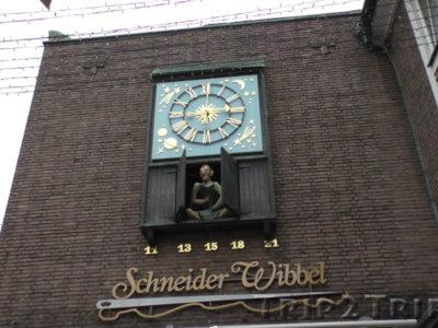 Часы Портняжка Виббель, Дюссельдорф