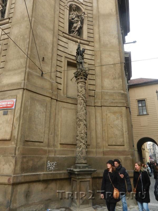Столб св. Вацлава, костёл св. Франциска, Прага