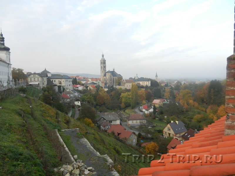 Панорама Кутны-Горы с церковью св. Якуба, Чехия