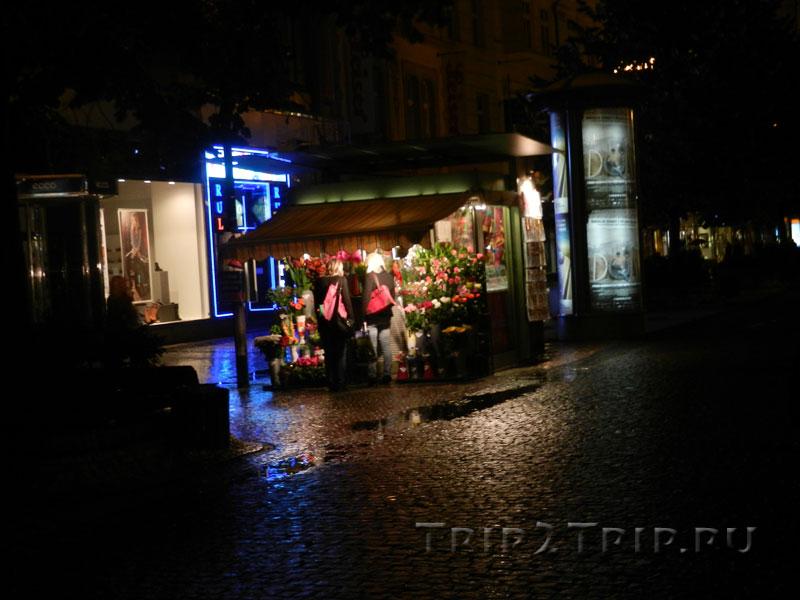 Цветочный киоск, Вацлавская площадь, Прага