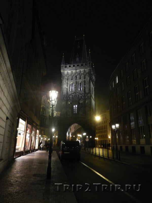 Улица Целетна и Пороховая башня, Прага