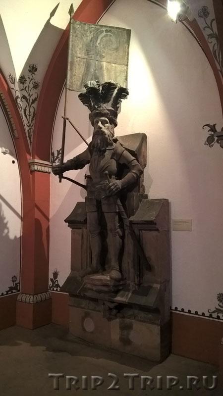 Оригинальная скульптура Знаменосца, Ратуша, Базель