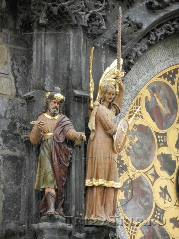 Фигуры Философа и Архангела Михаила Куранты (Орлой), Прага