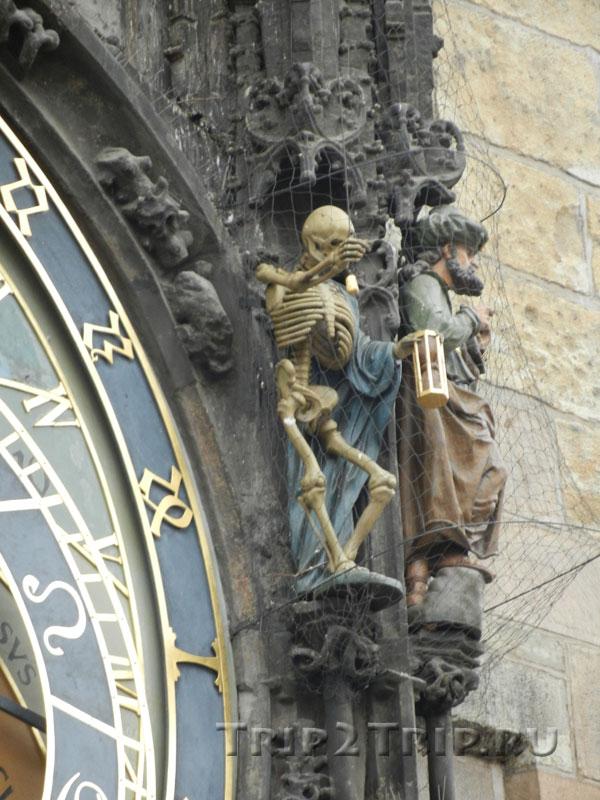Фигуры Смерти и Турка, Куранты (Орлой), Прага
