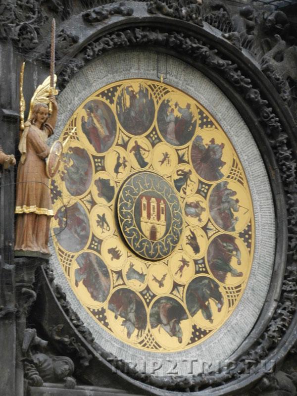 Календарный Циферблат, Куранты (Орлой), Прага
