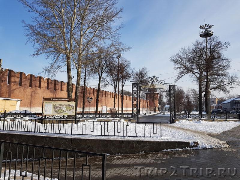 Вход в кремлёвский сад у Одоевских ворот, Тула
