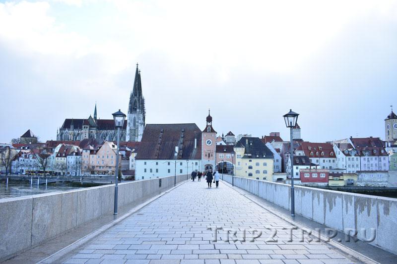 Панорама Регенсбурга с Каменного моста