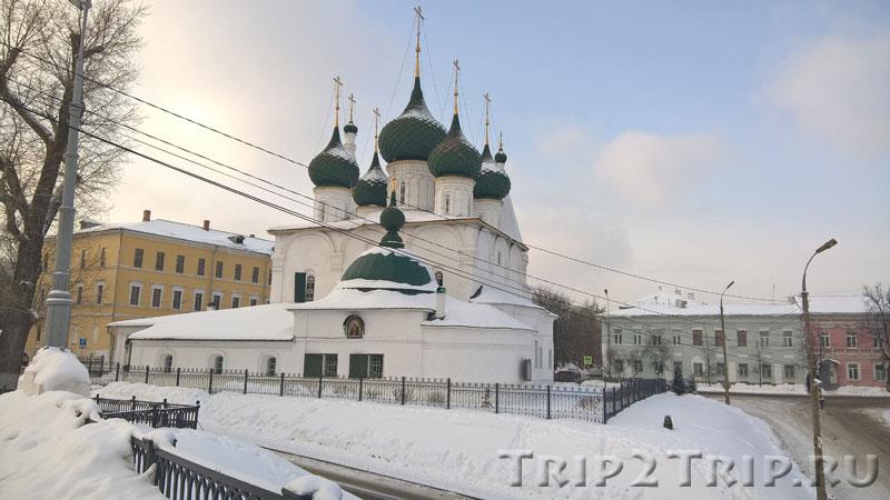 Церковь Спаса на Городу, Которосльная набережная, Ярославль