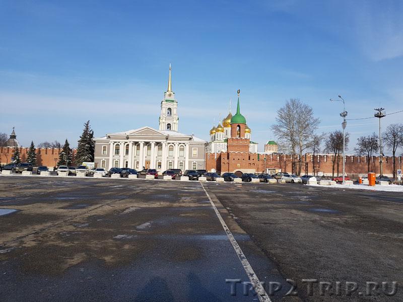 Визитная карточка (Вид на кремль и музей самоваров), Тула