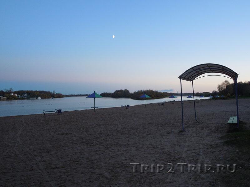 Кремлёвский пляж у Детинца, Великий Новгород