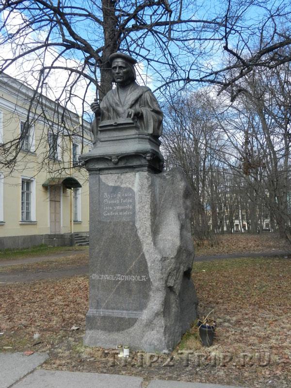 Памятник Микаэлю Агриколе, Выборг