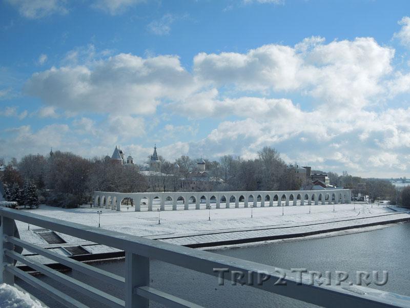 Ярославово Дворище с Софийского моста, Великий Новгород