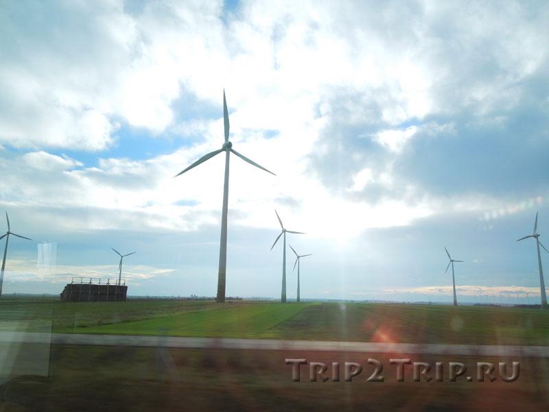 Ветряки по дороге Вена - Братислава
