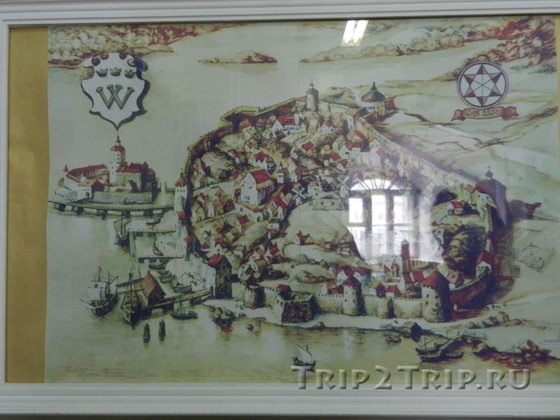Карта Старого Выборга из Выборгского музея