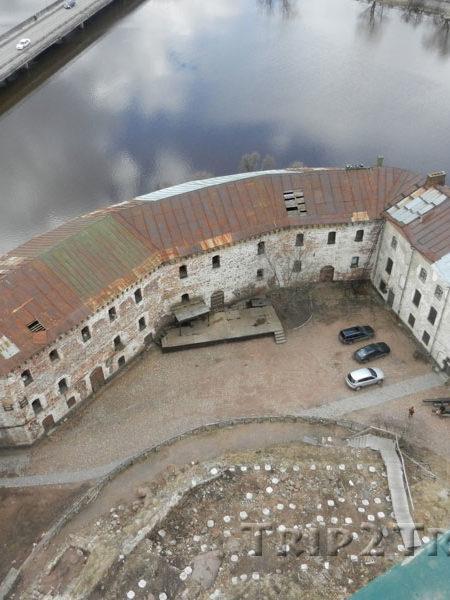 Вид на Нижний двор, Выборгская крепость