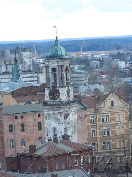 Панорама на Часовую башню, Старый Выборг