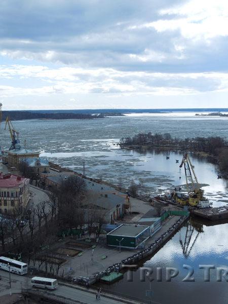 Панорама на пролив, соединяющий Защитную бухту и Финский залив, Выборг