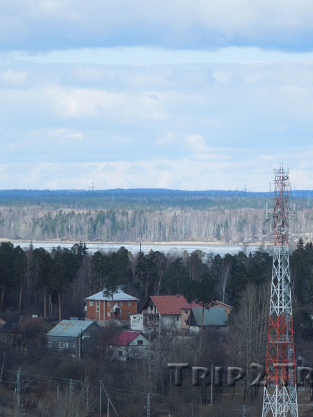 Панорама с башни святого Олафа, Выборг
