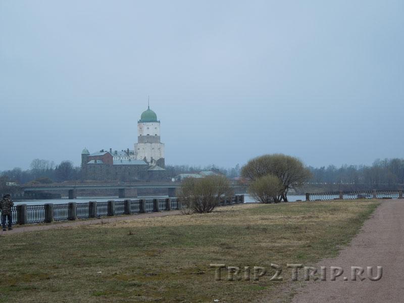 Вид на выборгский замок с северного берега залива Большой Ковш (Салакка-Лахти), Выборг