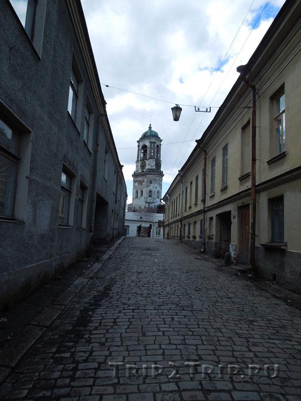 Часовая башня с перспективе улицы Водной Заставы, Выборг