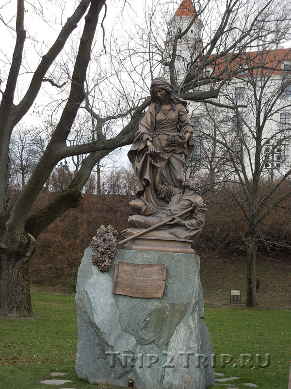 Статуя Елизаветы (Альжбеты), Град, Братислава