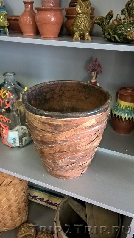 Восстановленный горшок, музей петровской игрушки, Кострома