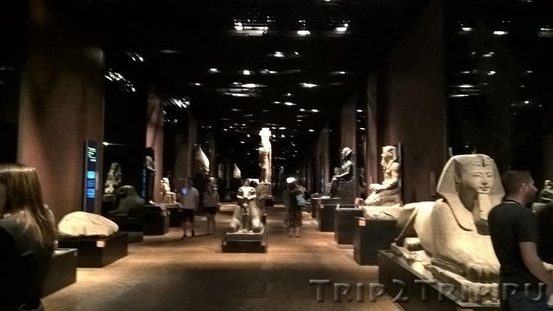 Зал скульптур, Египетский музей, Турин