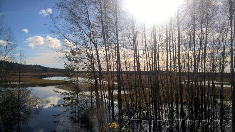 Трасса E-18, Ленинградская область