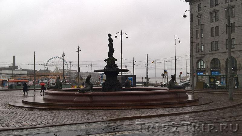 """Фонтан """"Хавис Аманда"""", Рыночная площадь, Хельсинки"""