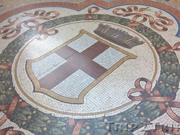 Мозаика в Галерее Виктора Эммануила II, Милан
