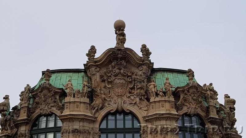 Скульптура Геракла, Павильон на валу, Цвингер, Дрезден