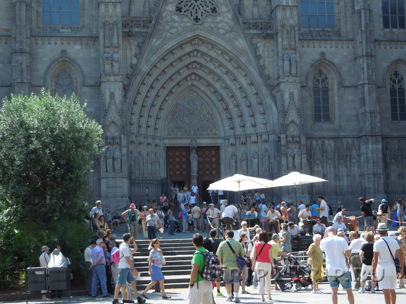 Портал кафедрального собора, Готический квартал, Барселона