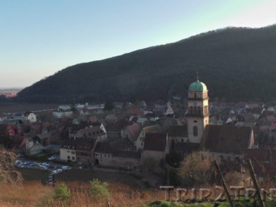 Панорама Кайзерсберга с вогезского холма, Эльзас