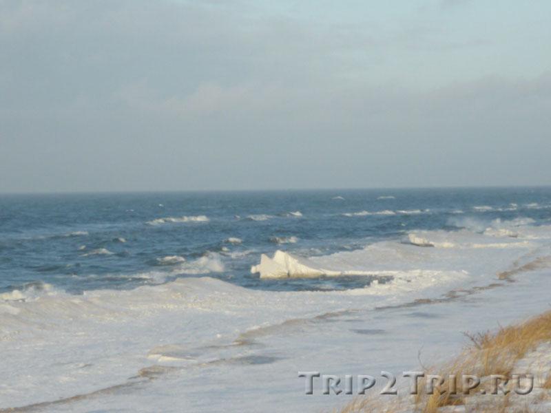 Балтийское море в январе, Куршская коса, Калининградская область